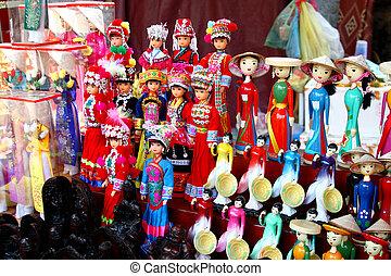 puppets - Vietnamese puppets and toys - Hanoi - Vietnam.