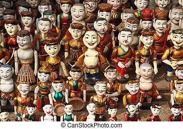 Water Puppets - Vietnamese water puppets in Hanoi, Vietnam.