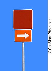 blank street sign - photographed blank street at local area...