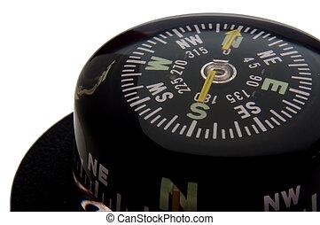 navigation compass closeup