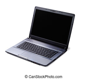 Modern Laptop - Modern style laptop isolated over white...