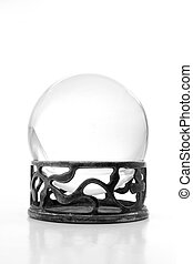 White crystal ball on stand