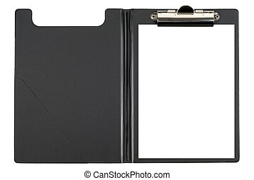 Folder And Sheet - Black file with white blank sheet...