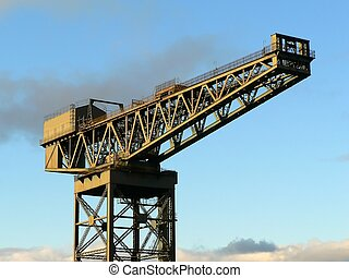 Ship crane - Finnieston crane close to the Clyde river...
