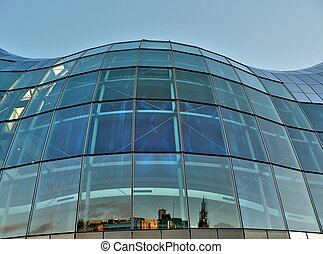Glass building structure - Side of the Sage Gateshead...