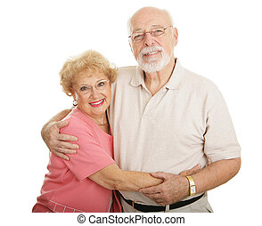 Optical Series - Seniors - Attractive senior couple wearing...