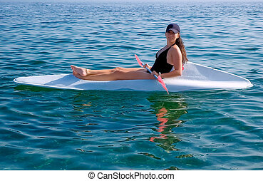 Canoe - Teenage girl in a canoe