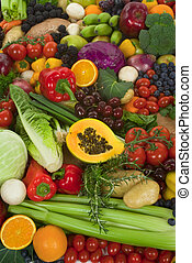 Vegetables and Fruits - Organic healthy vegetables and...