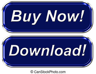 Buy Now! - 2 website graphic button with text buy now and...