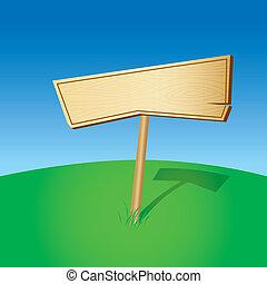 Blank Wooden Sign (illustration)
