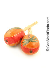 maracas - decorative musical hand shakers known as maracas...