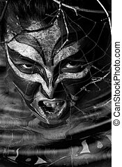 nightmare - Stylized amerindian militant drawing on feminine...