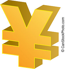 Yen currency - Japanese yen Currency symbol isometric...