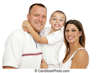 Beautiful Young Family - Beautiful young mother, father and...