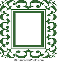Green Scroll Frame