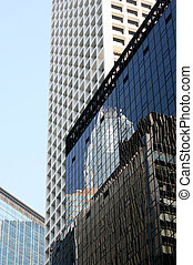 Skyscrapper\\\'s Reflection - skyscraper\\\'s reflections in...