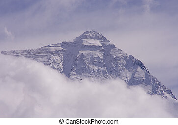 Top of the world - North face of the highest mountain in the...