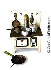 old kitchen as a toy for children to play