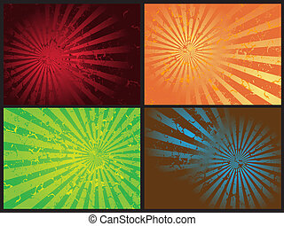 Star burst grunge retro vector - Star burst grunge retro...