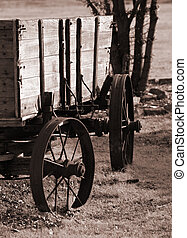 Wagon - Rustic wagon in sepia