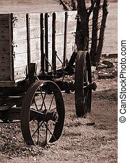 Wagon - Rustic wagon in sepia