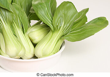 Shanghai Bok Choy - Cross section of Shanghai Bok Choy, also...