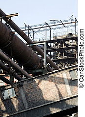 industry  - manufactory close up view for background