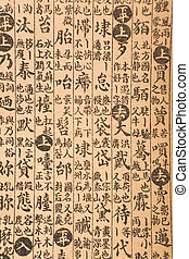 antique chinese book page - brown antique chinese book page...