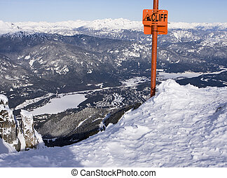 Cliff Sign At Whistler - A scenic view of the Whistler...