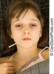 Sick Child - A sick child in bed recuperating