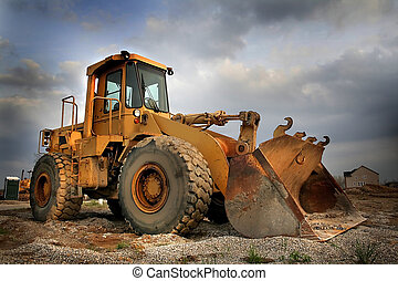 Construction Equipment - Construction equipment with sky...