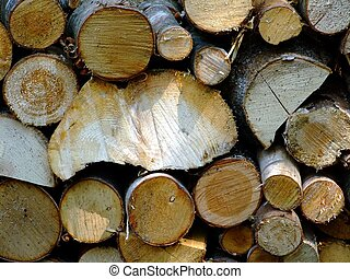 Fire wood close up