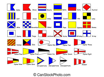 flags - shipping international signal flags