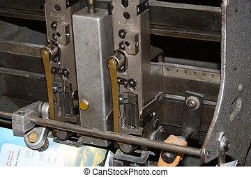 Bindery Equipment - Detail of stitching head