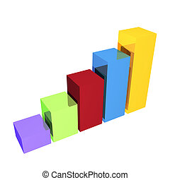 Clean Business Bar Chart in 3d - A simple business bar chart...