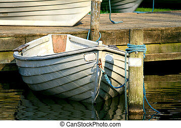拋錨, 行, 小船