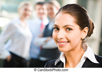 Business lady - Attractive self-confident business lady with...