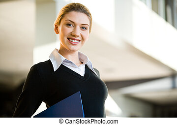 Confident woman - Portrait of confident business woman...