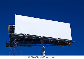 Available Billboard - An empty billboard ready and available...