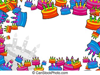 cake border - decorative birthday celebration cake page...