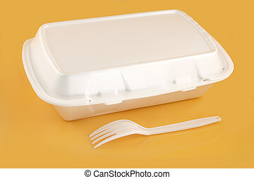 takeout container - styrofoam take-out food container and...