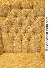 Upholster pattern - Antique golden floral upholster pattern...