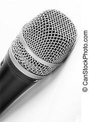 Microphone - A microphone on a white background