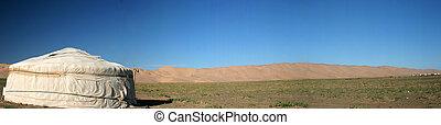Mongolian Ger - Mongolian ger on the steppes