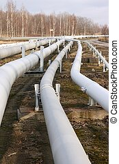 Pipelines - Several pipelines running into distance