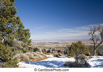 Winter in Grand Canyon - Grand Canyon in Winter as seen from...
