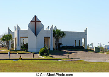 Modern church in Corpus Christi, USA