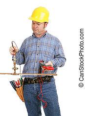 trabalho, ferramenta, errado