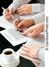 Helping with the plan - Image of business people�s hands...
