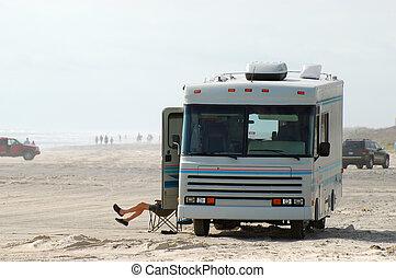 RV on the Beach